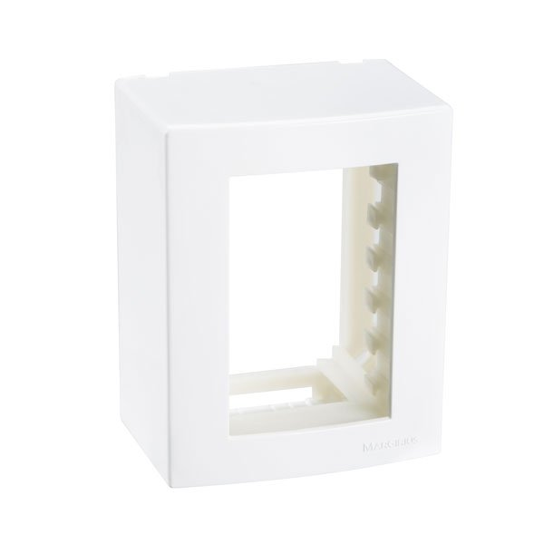 caixa de sobrepor + suporte branca