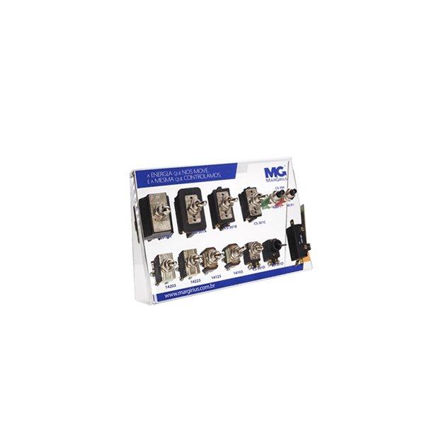 Display com a finalidade de apresentar os interruptores para aparelhos