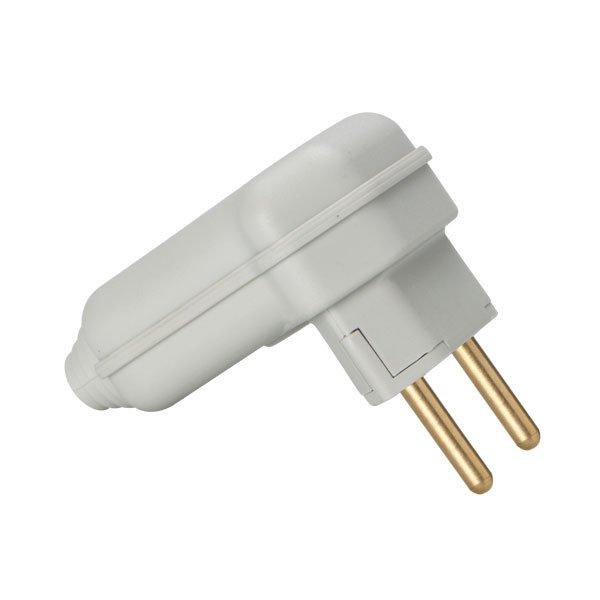 Plugue desmontável 2P 90º compatível com diversos tipos de cabos