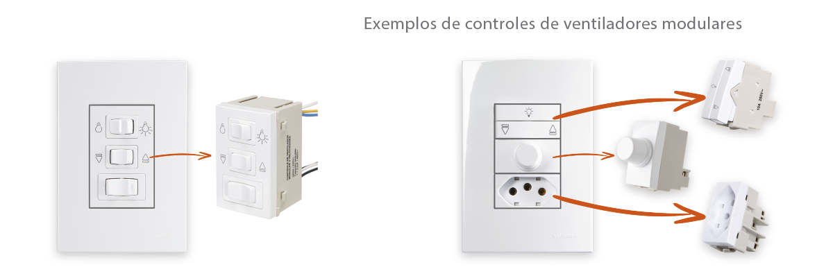 Saiba mais sobre os controles para ventiladores de teto.