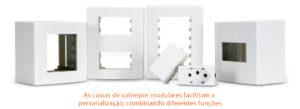 As caixas de sobrepor possibilitam uso de diversas funções