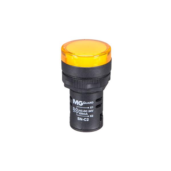 sinaleiro monobloco amarelo 24VCA/VCC - 1 unidade