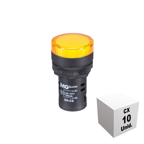 Sinaleiro monobloco 127 VCA/VCC amarelo 10 unidades
