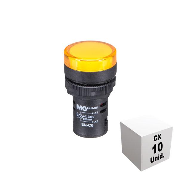 Sinaleiro monobloco 220 VCA amarelo 10 unidades
