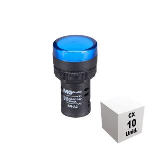 Sinaleiro monobloco 24 VCA/VCC azul 10 unidades