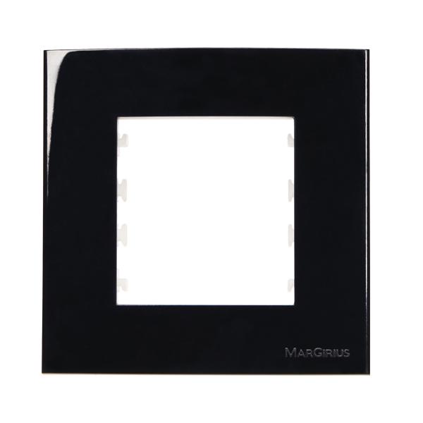 Conjunto placa + suporte para móveis na cor ebony (perto)