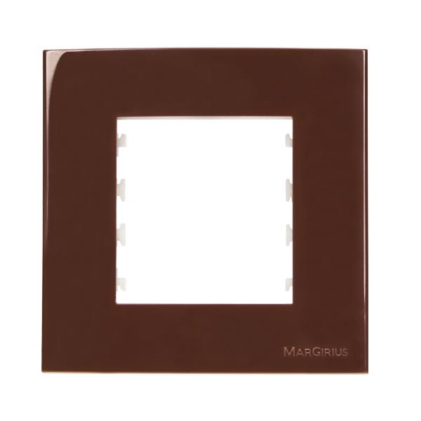 Conjunto placa + suporte para móveis na cor marrom