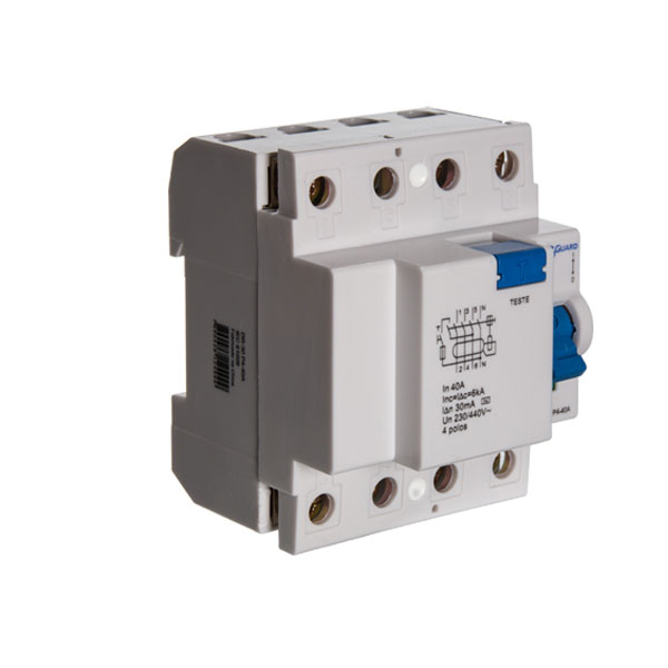 interruptor diferencial residual quadripolar - 40A