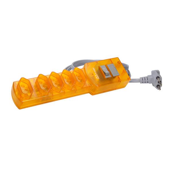 filtro de linha na cor amarelo com cabo de 1.5m bivolt