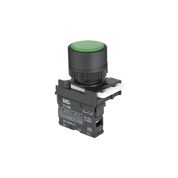 botão faceado simples verde