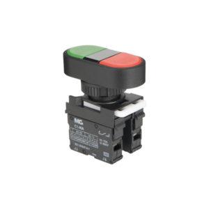 botoeira com botão duplo verde e vermelho 1NA+1NF