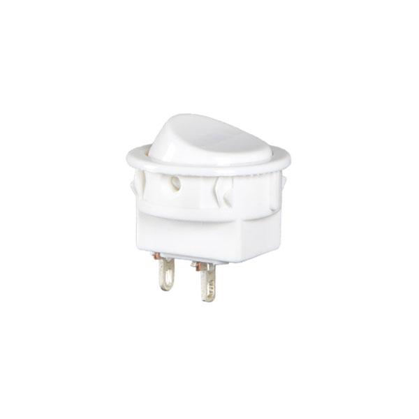 interruptor redondo na cor branca - liga / desl.