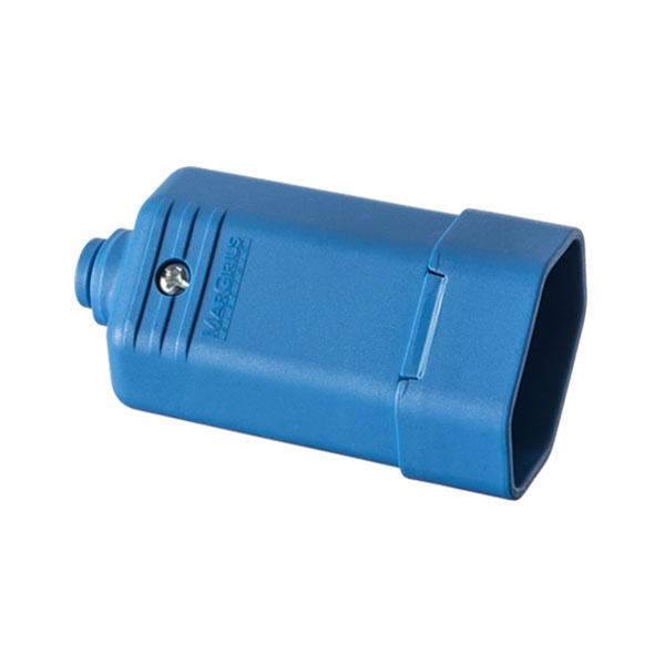 tomada desmontável 10A na cor azul