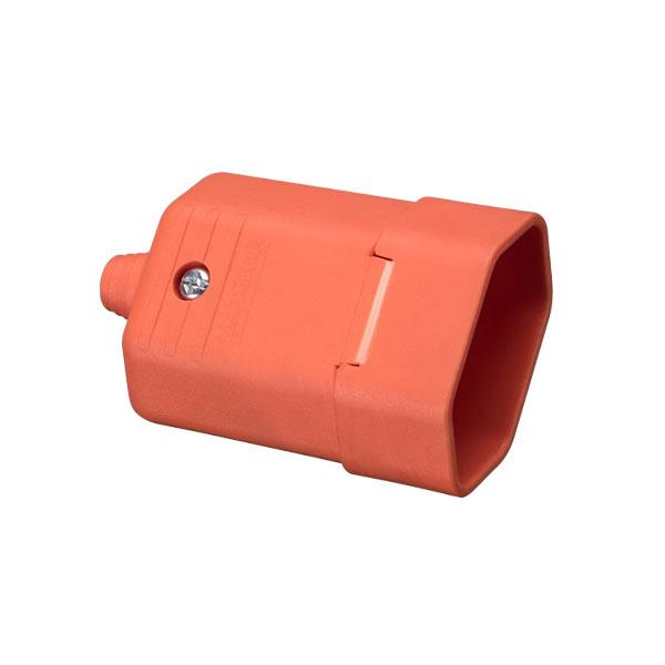 Tomada desmontável na cor laranja 2 pinos 10A
