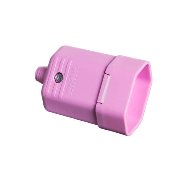 Tomada desmontável na cor rosa 2 pinos 10A