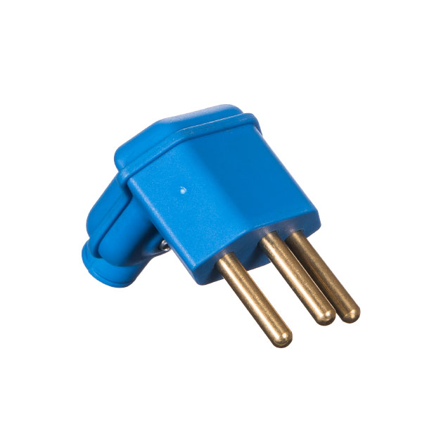 plugue desmontável na cor azul de 90 graus - 10A