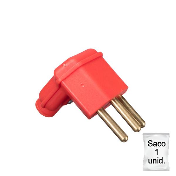 plugue desmontável na cor vermelho de 90 graus - 10A -plástica 1 unid.