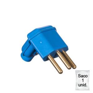 plugue desmontável na cor azul de 90 graus - 10A -plástica 1 unid.