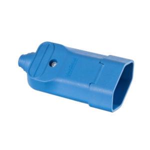 Tomada desmontável fêmea 2P com prensa cabos 20a na cor azul