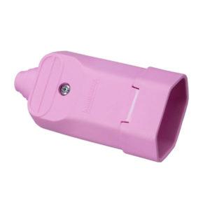 Tomada desmontável fêmea 2P+T com prensa cabos 20a na cor rosa